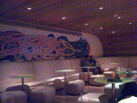 Seating in the bar.