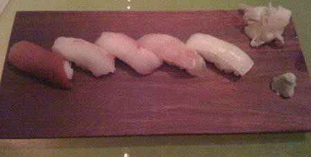 Seriously...I'm supposed to eat raw fish now?  *Blurp!*