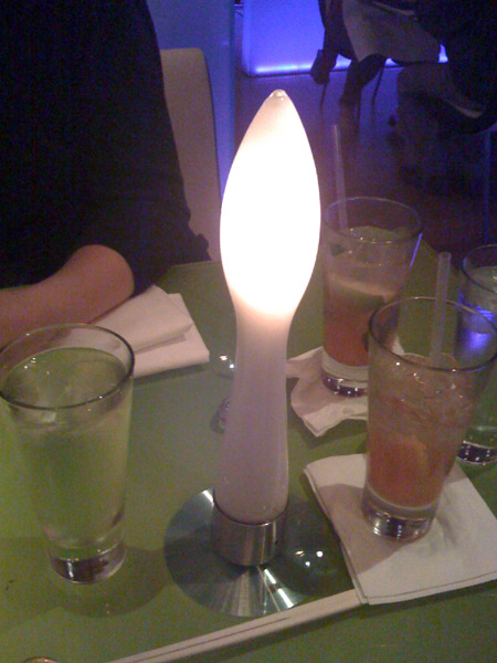 Each table was decorated with a Space Dildo!